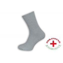 Rebrované bambusové sivé ponožky