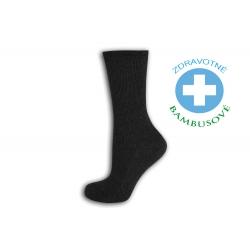 Dámske bambusové zdravotné ponožky - antracit