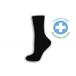 Dámske bambusové zdravotné ponožky - čierne
