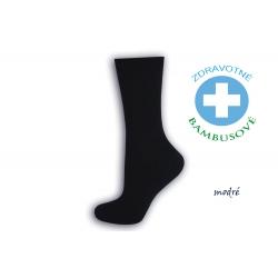 Dámske bambusové zdravotné ponožky - modré