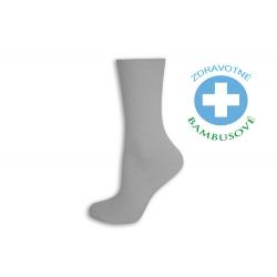 Dámske bambusové zdravotné ponožky -biele