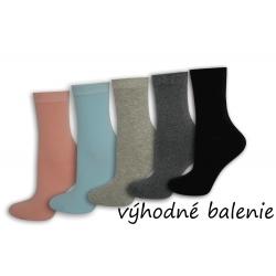 Bavlnené dámske vysoké ponožky. 5-párov