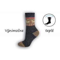 Modré výnimočne teplé dámske ponožky