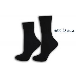 Čierne dámske ponožky bez lemu