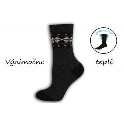 Čierne  výnimočne teplé dámske ponožky