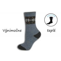 Bl. modré výnimočne teplé dámske ponožky
