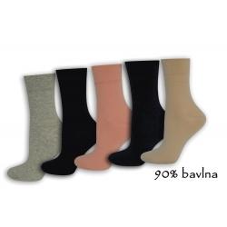 Pohodlné dámske ponožky - 5-párov