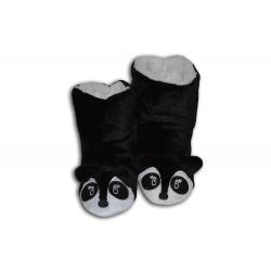 Čierne vysoké detské papuče s pandou