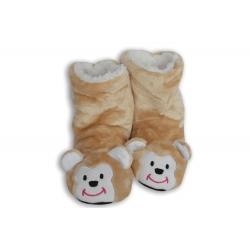 Zlaté detské papuče s opičkou