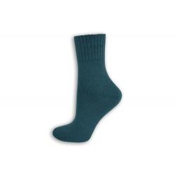 Modré vlnené dámske ponožky
