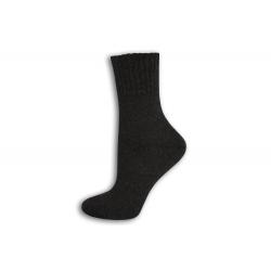 Tmavo-sivé vlnené dámske ponožky