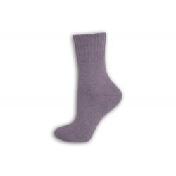 Fialkové vlnené dámske ponožky