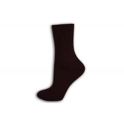 Bordové dámske vlnené ponožky