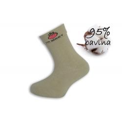 Pistáciové dievčenské ponožky s jahodou