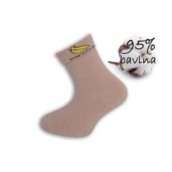 Ružové dievčenské ponožky s banánom