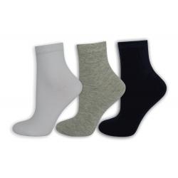 Modré, sivé biele dámske ponožky. 3-páry
