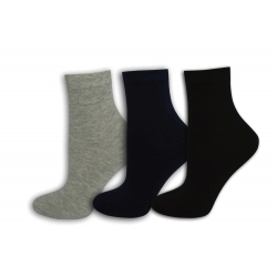 Čierne, sivé modré dámske ponožky. 3-páry