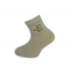 95%-né bavlnené písmenkové ponožky - pistáciové