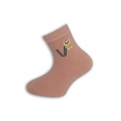 95%-né bavlnené písmenkové ponožky - ružové