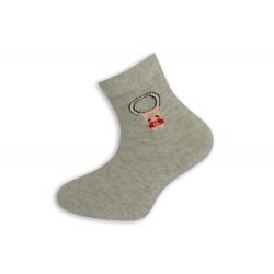 95%-né bavlnené písmenkové ponožky - sivé