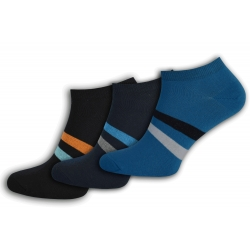 Pánske nízke farebné ponožky - 3-páry