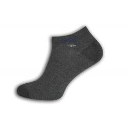Šedé extra bavlnené pánske ponožky