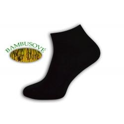 Exkluzívne bambusové nízke čierne ponožky