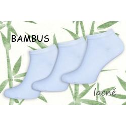 Biele bambusové lacné ponožky