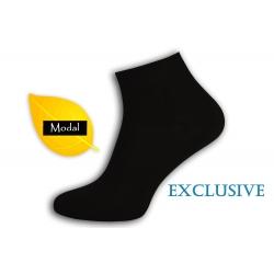 AKO HODVÁB!  Čierne pánske ponožky z modalu