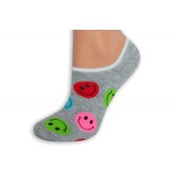 Sivé smajlíkové obľúbené ponožky