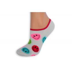 Ružové smajlíkové pevne držiace ponožky