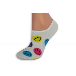 Maslové smajlíkové pevne držiace ponožky