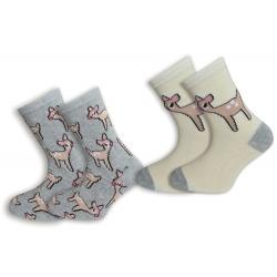 Dva páry ponožiek so srnkami