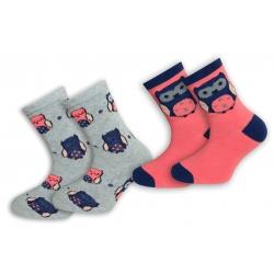 Dva páry ponožiek so sovičkami