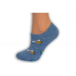 Belasé extra nízke ponožky so skeatom