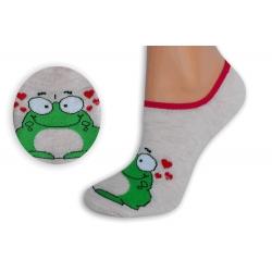 Marhuľové neviditeľné ponožky so žabkou