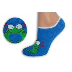 Modré neviditeľné ponožky so žabkou