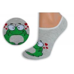 Prírodné neviditeľné ponožky so žabkou