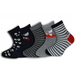 5-párov detských ponožiek.