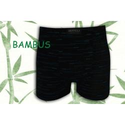 Čierne bambusové boxerky so vzorom