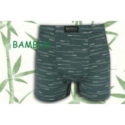 Petrolejové bambusové boxerky so vzorom