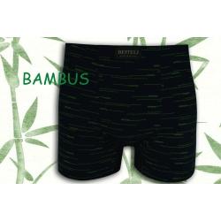 Modré bambusové boxerky so vzorom