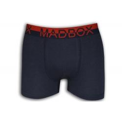 Fialové bavlnené boxerky s pásom