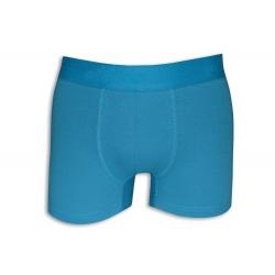 Modré bavlnené boxerky s pásom