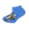 Členkové modré ponožky s policajtom na motorke