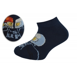 Členkové tm.modré ponožky hasič vs. jazdec