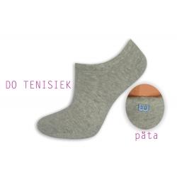 Sivé dámske ponožky do tenisiek