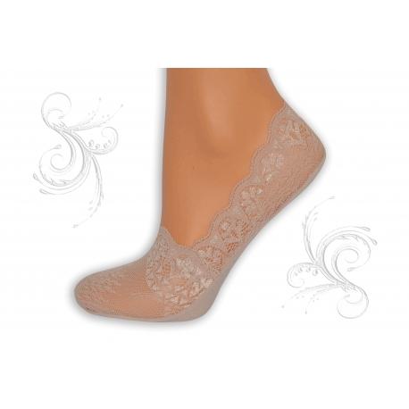 Ružové ponožky z krajky