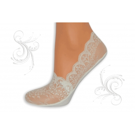 Biele ponožky z krajky
