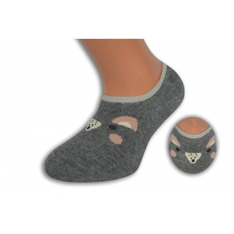 Šedé nízke detské ponožky